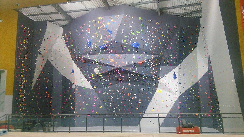Le Mur D Escalade Du Complexe Sportif Gregoire Aesm Cholet